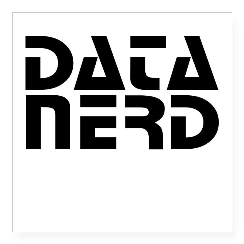 CafePress Data Nerd 2 Sticker Square Bumper Sticker Car Decal, 3