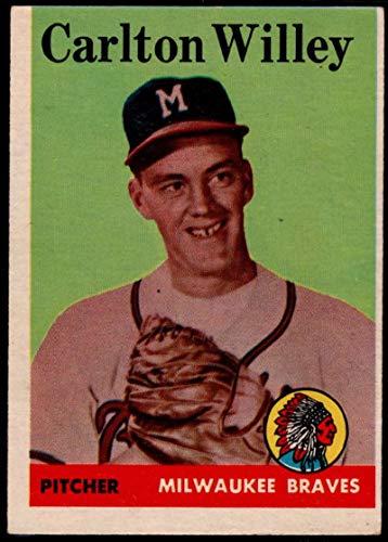 Baseball MLB 1958 Topps #407 Carl Willey RC Braves