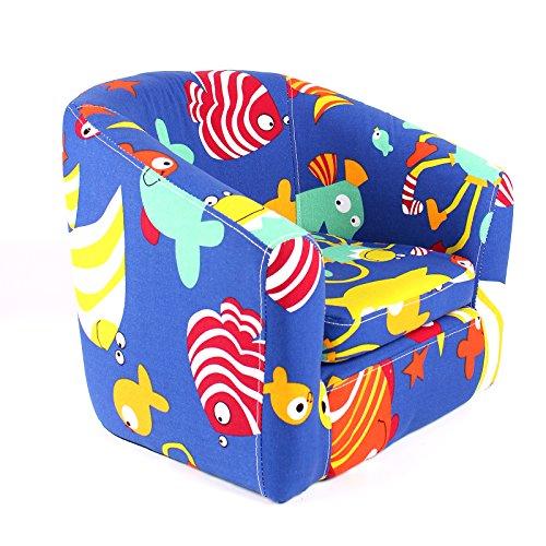 Emall Life Sillón niños Silla para bañera Sofá de Dibujos Animados Estructura de Madera (Debajo del mar)