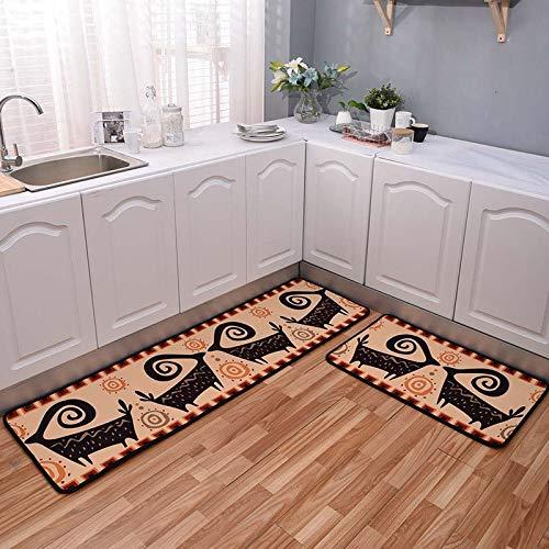 HLXX Cartoon Lange rutschfeste Küchenmatte Abdeckung saugfähig Eingangstür Matte Gebet Teppich Bad Teppich Outdoor Korridor Bereich Teppich A1 40x60cm
