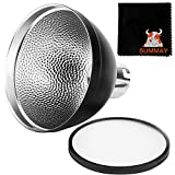 GODOX AD-S2 Standard Reflector with Soft Diffuser for Godox AD200 AD180 AD360 AD360II Flashes