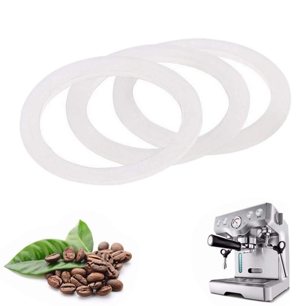 Anillo de sellado de silicona de Milopon para cafetera de goteo, junta de repuesto, anillo para 2 tazas, cafetera de espresso, cacerola de 3,7 cm de diámetro interior, Blanco, 4,9 cm: Amazon.es: Hogar
