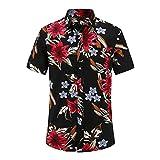 Camisas Hawaianas De Playa De Manga Corta para Hombre De Verano Camisas Florales Casuales De AlgodóN Regular Tallas Grandes 3XL Ropa para Hombre Moda