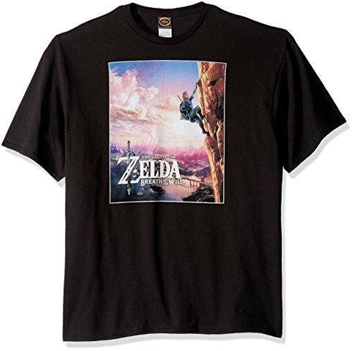 Nintendo Playera de Zelda Wild Poster Catching Breath para Hombre, Negro, Large