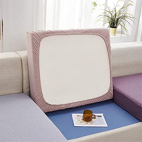 Fundas de cojín elásticas para sofá, impermeables, fundas de cojín de sofá, fundas de repuesto para cojines individuales (rosa, rectángulo-XL)