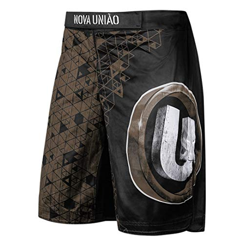 Hayabusa Nova Uniao ODA Mens Loose Fit Fight Shorts - Black/Brown, 30