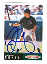Autograph Warehouse 29101 Jason Conti Autographed Baseball Card Tampa Bay Devil Rays