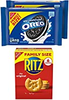 OREO Cookies & RITZ Crackers Variety Pack, Family Size, 3 Packs