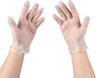 MoloTAR 100 PCS Disposable Vinyl Gloves, Extra Large