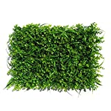 Artificial Hedge Panels Lawn Fence - Green Hedge Backdrop Plastic Garden Fake Fence Mat Panel Lattice Wall Decoration for Indoor Outdoor Greenery Walls (1-Pack)