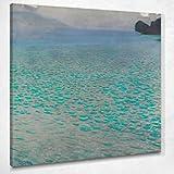 CIQUADRO Il Lago Attersee Klimt Gustav - Cuadro con impresión sobre lienzo Kg65, 120 x 120 cm