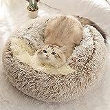 TSLZF Cama De Gato Súper Suave Casa Invierno Cálido Gato Cachorro Cama Pequeño Perro Gato Cama Antideslizante