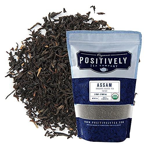 Organic Positively Tea Company, Assam TGFOP Black Tea, Loose Leaf, 16 Ounce