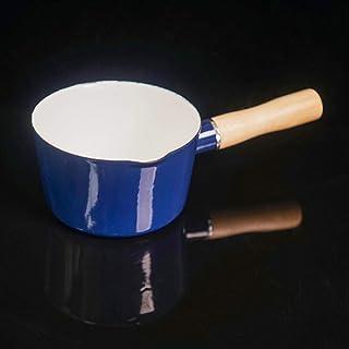 HUSHUN Mini Calentador de Leche Portátil Candy Sartén Antiadherente Cacerola Cocina aptas para todo tipo de cocinas incluido inducción-Azul