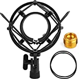 Microphone Shock Mount, ChromLives Shock Mount Mic Holder, Mic Clip Holder AT2020 Anti Vibration Shock Mount for Microphone 48mm - 54mm Diameter Studio Condenser