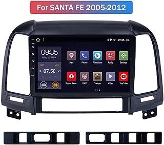 HP CAMP Android 9.1 Octa Core Navigationssystem für Hyundai Santa Fe 2005 2012, Navigation Eingebaute Rückfahrkamera/CarPlay, unterstützt Bluetooth 5.0 / SWC/Online Offline GPS