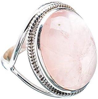 Anello in argento al quarzo rosa 925 gioielli fatti a mano in argento massiccio taglia 6 to 31 IT