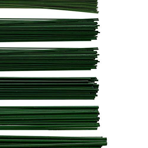 Bütic à fil – Lien armé – Décoration de – Vert, Métal, 0.4mm x 30cm - 60 Stück