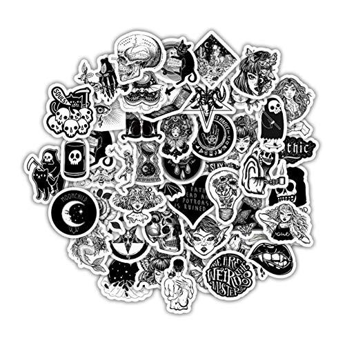 Oihxse 50 pegatinas de plástico Tumblr Aesthetic, resistentes al agua, para portátil, monopatín, coche, moto, bicicleta, maletín, DIY, fiesta, estrella, para decorar Vsco, niñas, jóvenes, A6