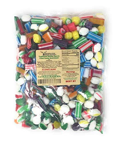 Traditional Holiday Assortment Hard and Filled Candy, 4 Pound Bag