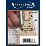 Realeather Crafts - Kit per Occhielli, Colore: Argento