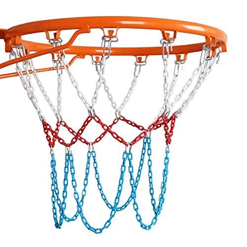 LAIABOR Stahl Kette Basketball Net, Metall Basketballnetz, Enthält keinen Basketballkorb,Verzinktes Metallnetz Basketball Korb Netz,13 Buckles