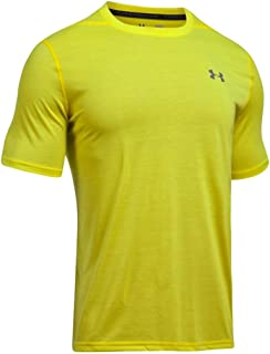 Under Armour Threadborne Siro playera para hombre, Amarillo roto, M-T