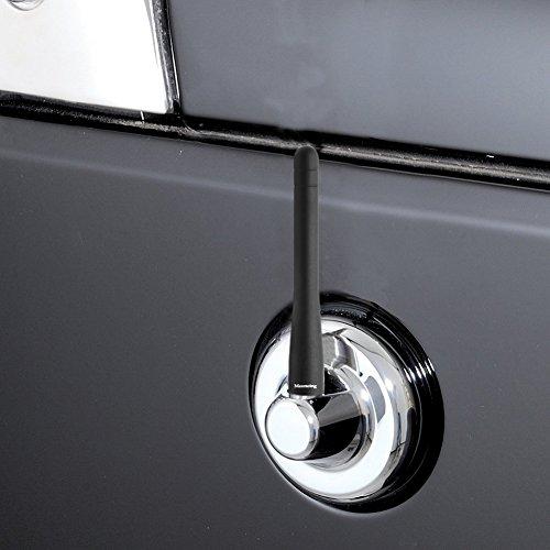 Maxracing Short Aluminum Antenna Compatible with 07 to 2020 Jeep Wrangler JK JKU JL JLU
