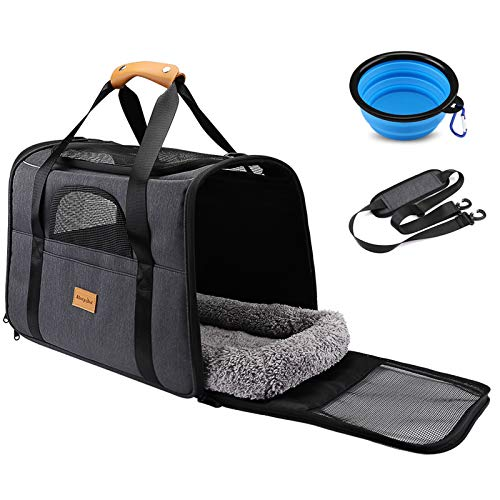 morpilot Pet Travel Carrier Bag, Portable Pet Bag - Folding Fabric Pet Carrier, Travel Carrier Bag...