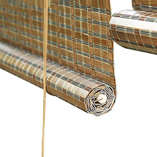 Cortina de Bambu Persianas Enrollables de Pérgola Retro de