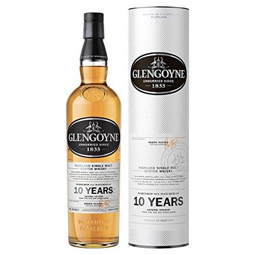 Glengoyne Highland Whisky escocés de 10 años de edad 70cl (paquete de 70 cl)