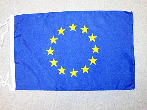 AZ FLAG Bandera de Europa 45x30cm - BANDERINA Union Europea - UU.EE 30 x 45 cm cordeles
