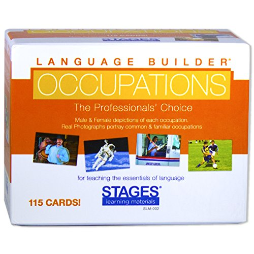 Stages Learning Materials Language Builder Occupation, Carriera & Community Helper Picture Flashcards Photo Cards per autismo Istruzione e Terapia ABA