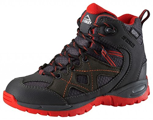 McKINLEY Kinder Jungen Outdoor Winter Wander Stiefel Cisco Hiker Schuhe 262111, Farbe:900 ANTHRAZITE/RED, Größe:29