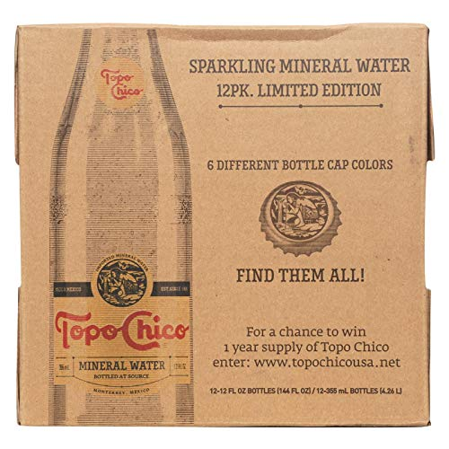 Topo Chico Mineral Water (Glass), 12-Ounce (Pack of 12)