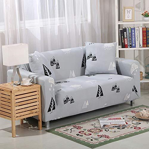 Zzyx Bunte Geometrische 1/2/3/4 Sitzigen Sofaabdeckung Eng Wickelt All-Inclusive Schnitt Elastische Sitzbezüge Couch Hauptdekoration (Color : 5888, Size : 2Pcs Cushoin Covers)