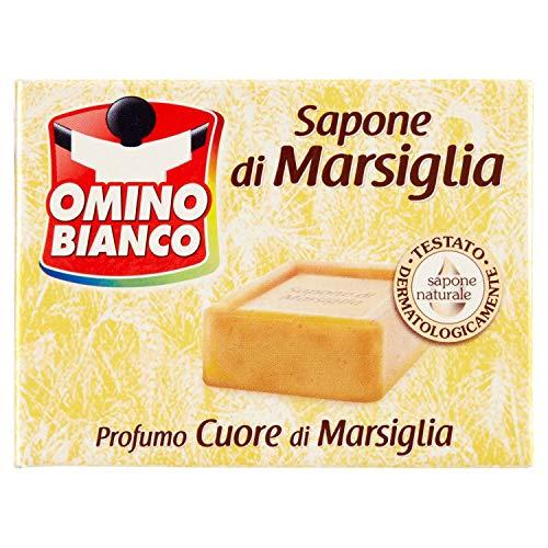 Omino Bianco - Sapone Di Marsiglia, Profumo Muschio Bianco - 250 G,profumi assortiti
