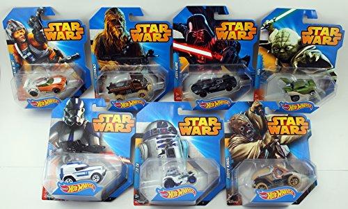 2014 Hot Wheels Star Wars Set of 7 - Darth Vader, Yoda,...