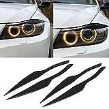 SPLLEADER 2Pcs / Set Carbon-Faser-Auto-Scheinwerferblenden Augenlid Abdeckung Dekoration Auto-Aufkleber for BMW 3er E90 E91 F30 F34 2006-2011 Voiture interieur