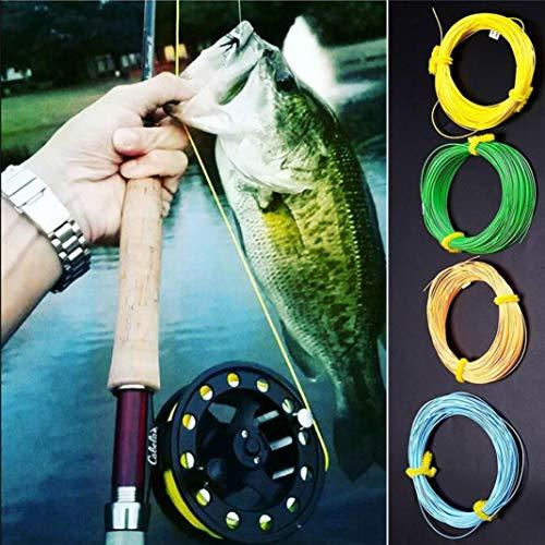 YSHTAN - Accessoire de pêche à la mouche - Outil de réparation - 30,5 m - WF-2F/3F/4F/5F/6F/7F/8F - Poids à l'avant flottant - Corde de pêche à la mouche - Bleu WF8F