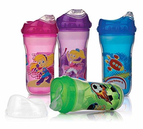 Nuby Ultra Cup Vaso anti-derrame isolado, 270 ml, 1 unidad [colores surtidos]