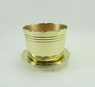 "3"" W Brass Joss Incense Stick Pot Holder Censer Thai Style"