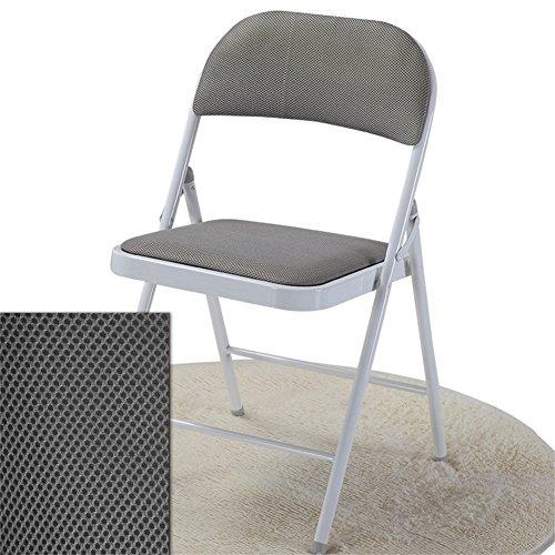 BZEI-Stuhl Home/Outdoor Freizeit Stuhl Falten Bürostuhl, Klappstuhl Stuhl, Netto Stoff Stoff gepolstert Esszimmer Sitz Haushalt Schreibtisch Stuhl/grau-Pack von 1 langlebig