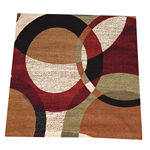 ANGERT& Cloth Napkins Set of 4 Abstract Modern Persian Brown Geometric Washable Polyester Dinner Table Linen Napkin for Restaurant Hotel Weddings Parties Holiday 20 Inches