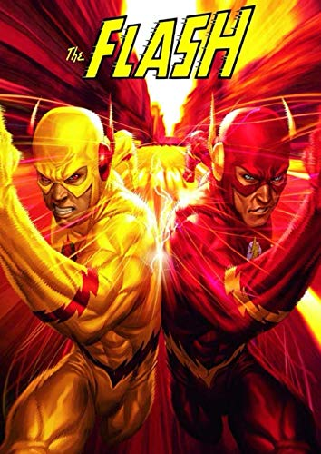 The Flash: Race, Notebook, Movie TV Series, Comics, DC Superhero, Journal, Diary (130 Pages, 8.27' x 11.69', in lines with a margin), College Ruled, ... for Kids Teens Students Adults, Cover Soft