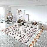 Hogar Decoracion Pie De Cama Diseño geométrico Naranja Moderno Alfombra Sala de Estar decoración de Dormitorio no Cae 200x280cm Alfombra Habitacion Niña