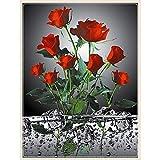 Sunnay Diamond Painting Set,Vase con el Sol de Flores, 5D Diamant Painting Set Full Stickerei Grandes imágenes DIY Diamonds Pintura, 30x40 cm
