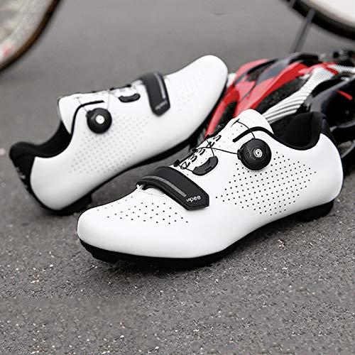 Zapatillas Bicicleta Carretera, Zapatillas Ciclismo Para Hombre, Zapatillas CóModas Primera Calidad, Con Tacos, Zapatillas Spd Para Hombre, Zapatillas Ciclismo Carretera Para Interior D-UK 6=EU 40