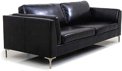 CasaStyle - Samuel Three Seater Leatherette Sofa (Black)