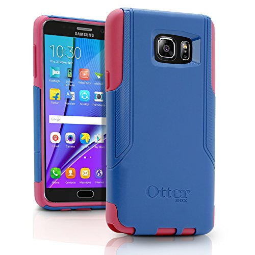 OtterBox COMMUTER SERIES Case for Samsung Galaxy NOTE 5 - Retail Packaging - Royal Blue PC / Hibiscus Pink Slip